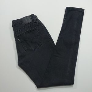 Levi's stretch denim 535 super skinny jeans -black